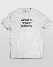 Smashing The Patriarchy Is My Cardio T-Shirt in White