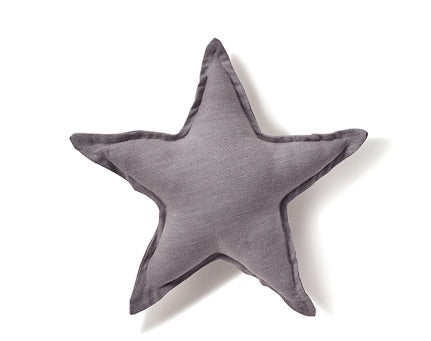 Dove Grey Star Cushion by Nanahuchy