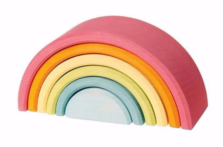 Grimms Wooden Pastel Rainbow Tunnel - (M)