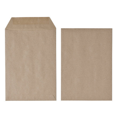 Envelope C5 Manilla Self Seal Plain Envelopes 75gsm Box 500