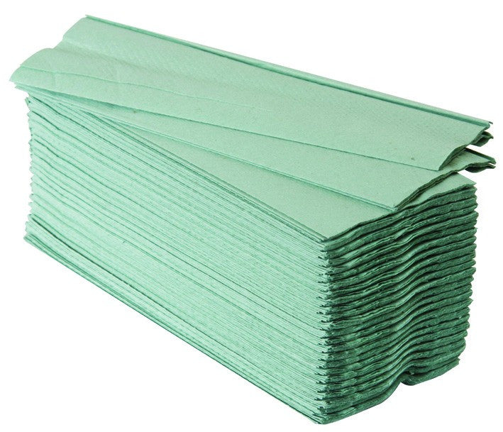 C-Fold Towel 1 Ply Green Pack of 2880