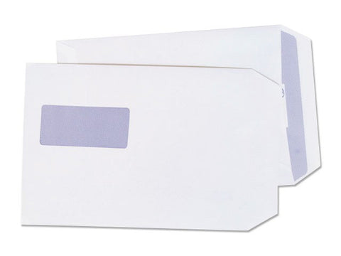 Envelope C5 Window White Self Seal Plain Envelopes 75gsm Box 500