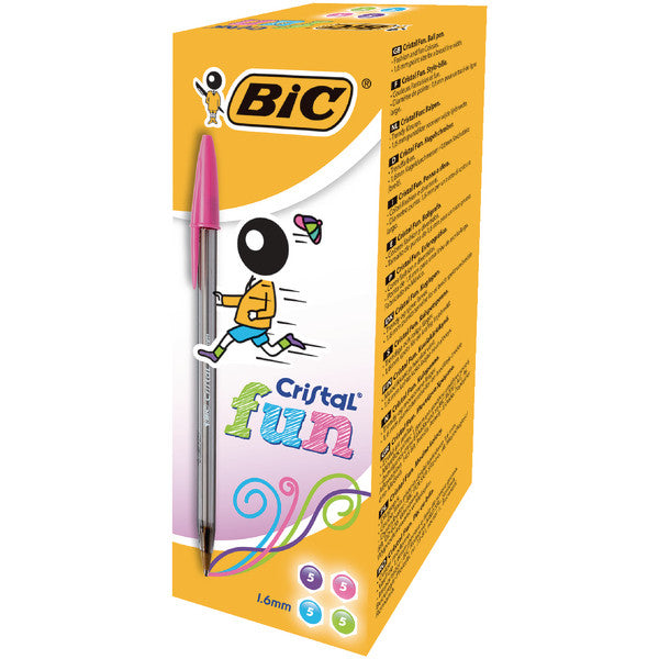 Bic Cristal Fun Assorted Ball Point Pens Pack 20
