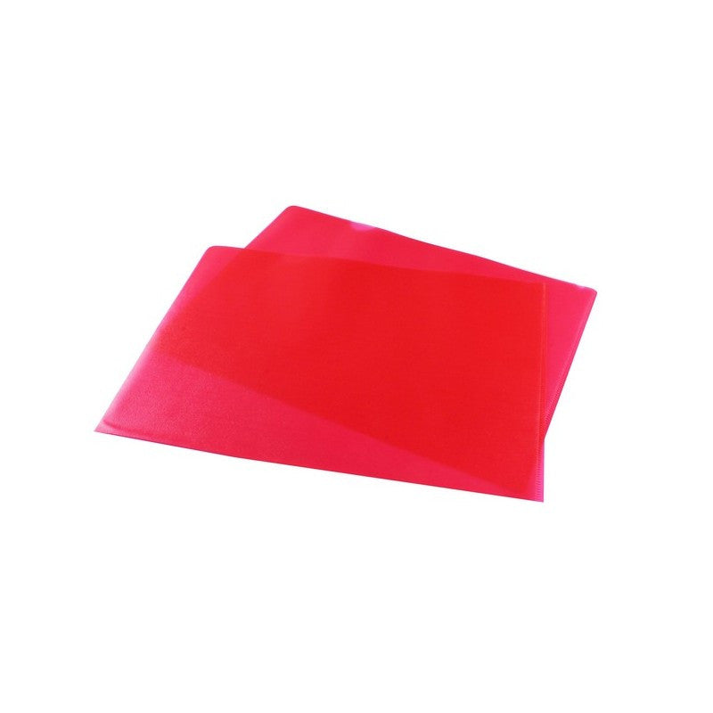 Cut Flush Folders A4 Red Pack 100