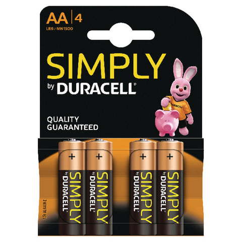 Simply Duracell AA Batteries Pack 4