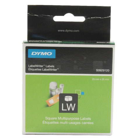 25x25mm Dymo Square Multi-Purpose Label Pk 750 S0929120