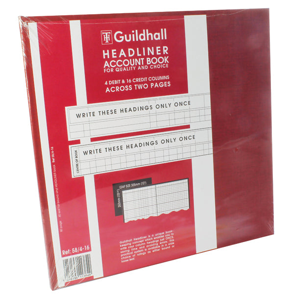 Guildhall Headliner Book 80 Pages 58/4-16 80 pages