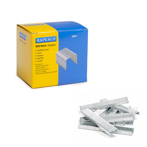 Rapesco Heavy Duty Staples 923 Series 8mm Pack 4000