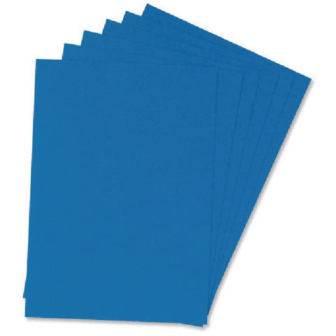Comb Binding Covers Royal Blue Leathergrain 250gsm A4 Pack 100