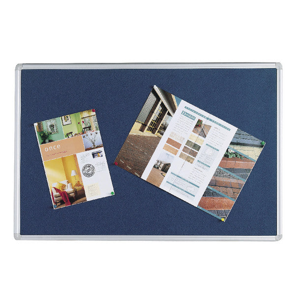 Notice Board 900x600mm Aluminium Frame Blue