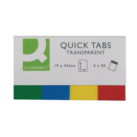 Quick Index Tabs 19x43 Transparent pack 200 tabs