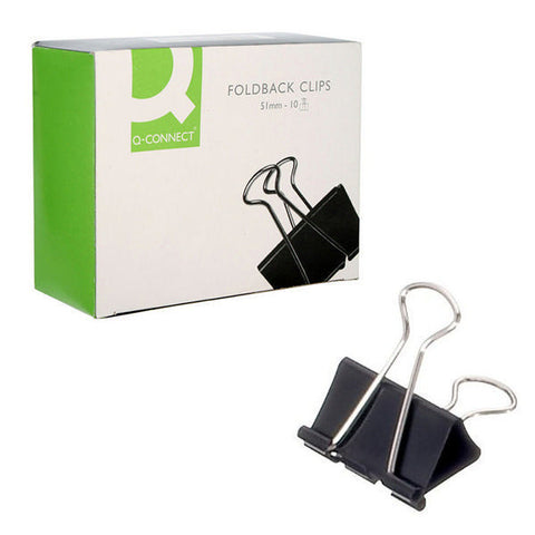 Foldback Clips 51mm Pack 10