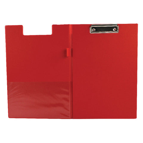 Foldover Clipboard Foolscap Red PVC