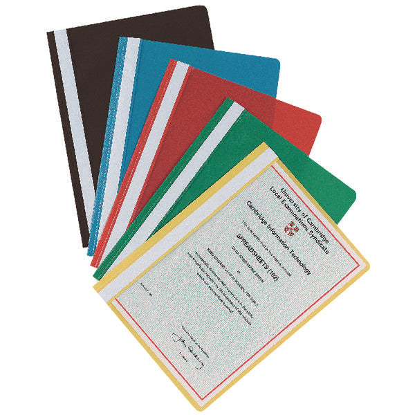 Plastic Report files A4 2 Prong- Colour and Quantity Choice