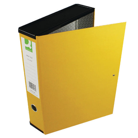 Foolscap Box File Yellow Pack 5