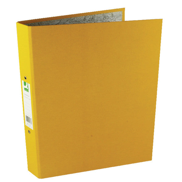 A4 Ring Binders Yellow Pack 10 - 25mm spine