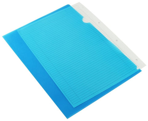 Cut Flush Folders A4 Blue Pack 100