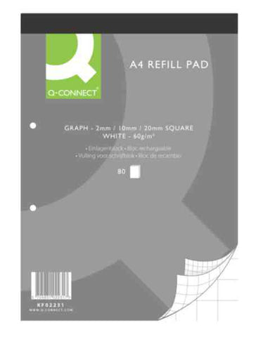 Graph Refill Pad A4 80Leaf Pack 10