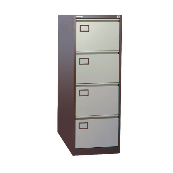 Filing Cabinet 4 drawer in Coffee and Cream