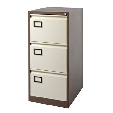 Filing Cabinet 3 drawer in Coffee and Cream