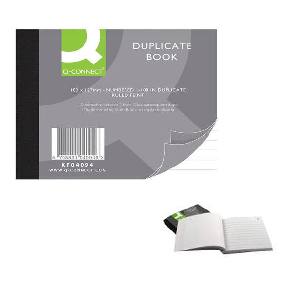 Duplicate Book 102x127mm Ruled Feint Pack 1