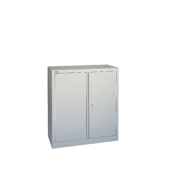Stationery Cupboard 40 inches / 1000mm High Grey 1 Shelf