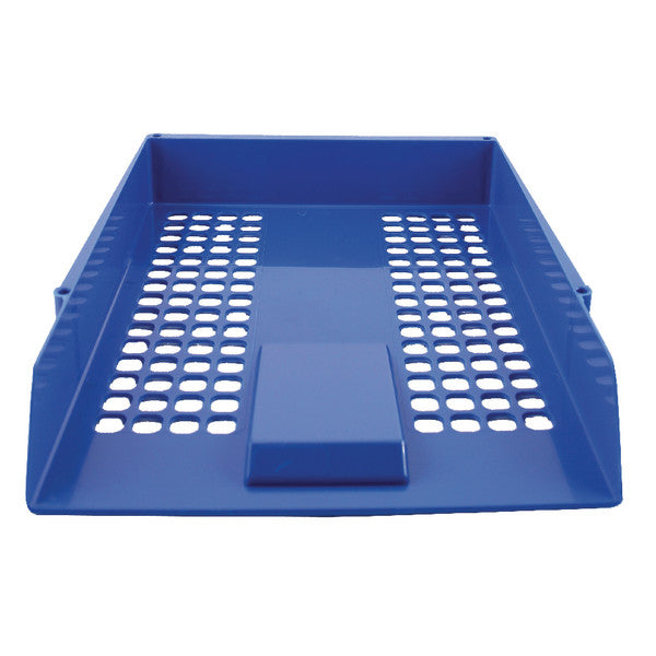 Letter Tray Plastic Blue Pack 1