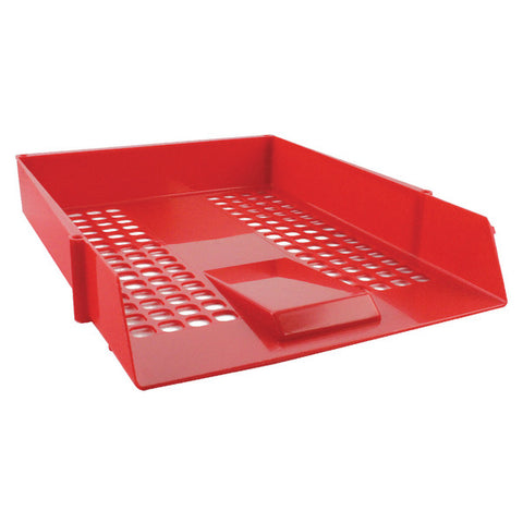 Letter Tray Plastic Red Pack 1