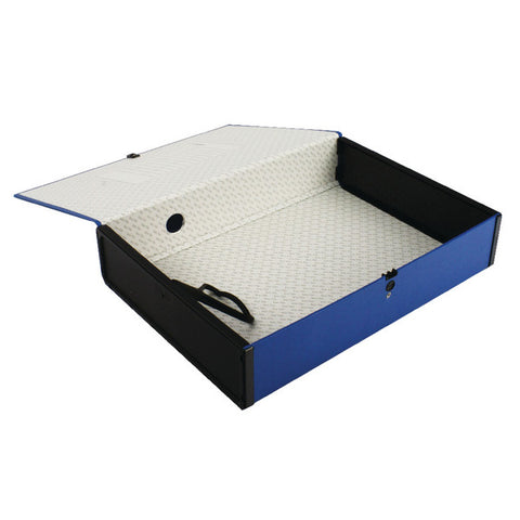 Foolscap Box File Blue Pack 5