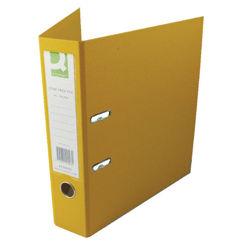 Lever Arch Filed A4 Yellow