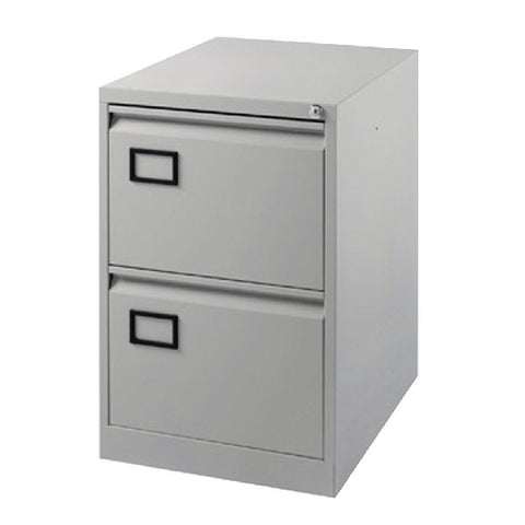 Filing Cabinet 2 drawer in Grey
