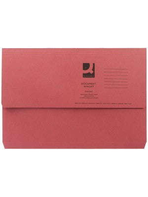 Document Wallet 285gsm Pink Foolscap Folders Pack 50