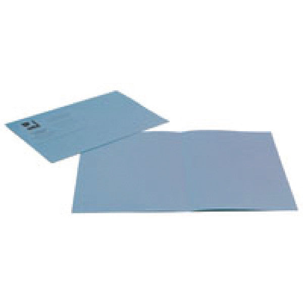 Square Cut Folders Foolscap Blue 180gsm lightweight File Pack 100
