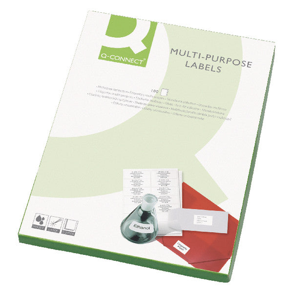Multi-Purpose Label 199.6x289mm 1 per A4 Sheet Pk 100 White