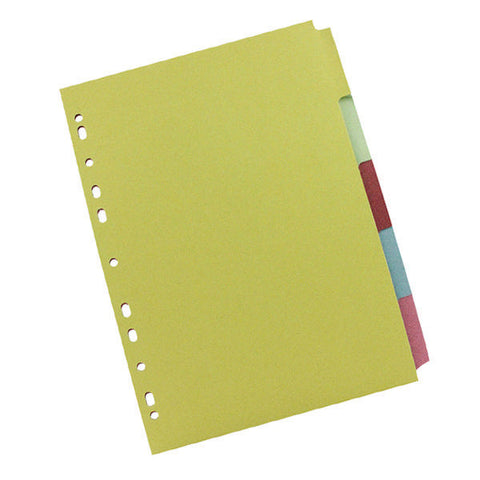 A4 5 part Subject Divider multi punched to fit most binders