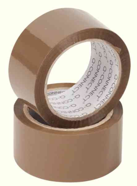 Packaging Sticky Tape Polypropylene 50mm x 66m Brown Pack 6