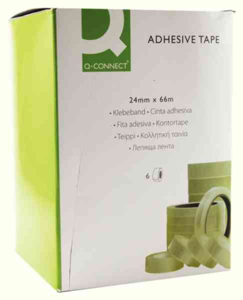 Sticky Tape Clear Adhesive 19mm x33m Pack 6