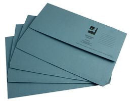 Document Wallet 285gsm Blue Foolscap Folders Pack 50