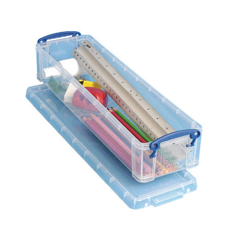 Really Useful Pencil/Stationery Box 1.5L Clear