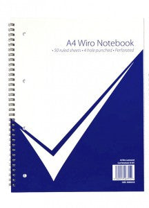 Wirebound A4 Wiro Laminated Notebook Pack 5