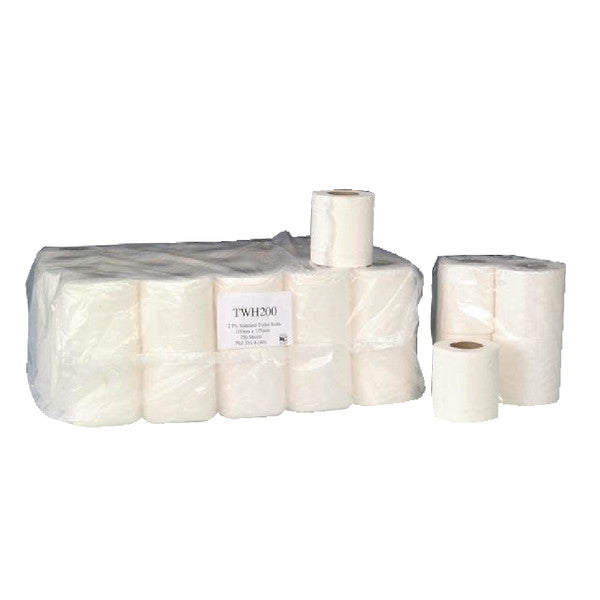Economy Toilet Roll 2 Ply 200 Sheet 9x4 Pk 36