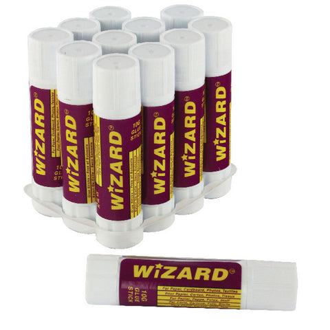 Glue Sticks 10g by Wizard Pack 12 Small
