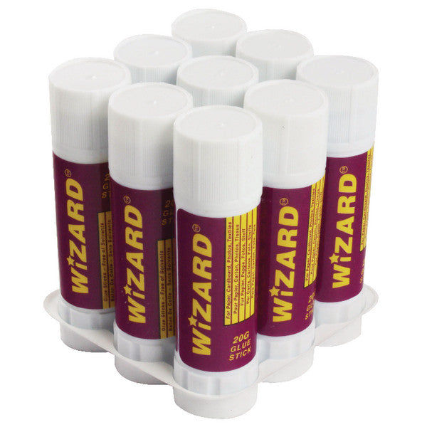 Glue Sticks 20g by Wizard Pack 9 Medium