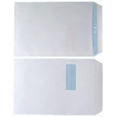 Envelope C4 Window 90gsm White Self Seal Box 250