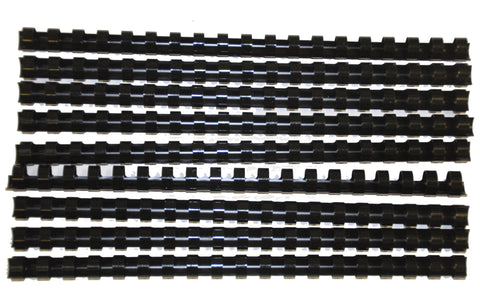 Comb Binding Rings 10mm Black Pack 100