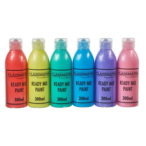 Pearlescent Ready Mixed Paint Fun Colours Kids Paint Home Work