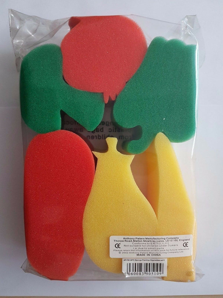 Sponge Painting Vegetable Theme 6 Arts and Crafts Sponge Shapes School Supplies
