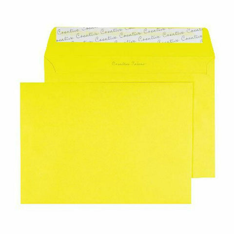 Wallet Envelope C5 Peel and Seal 120gsm Banana Yellow- Pack of 250