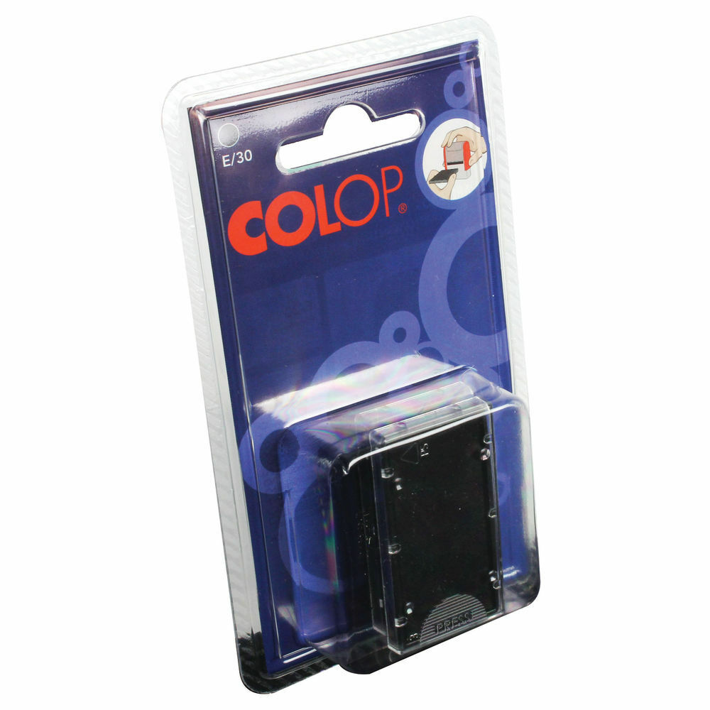 COLOP E/30 Replacement Ink Pad Black- Pack of 2