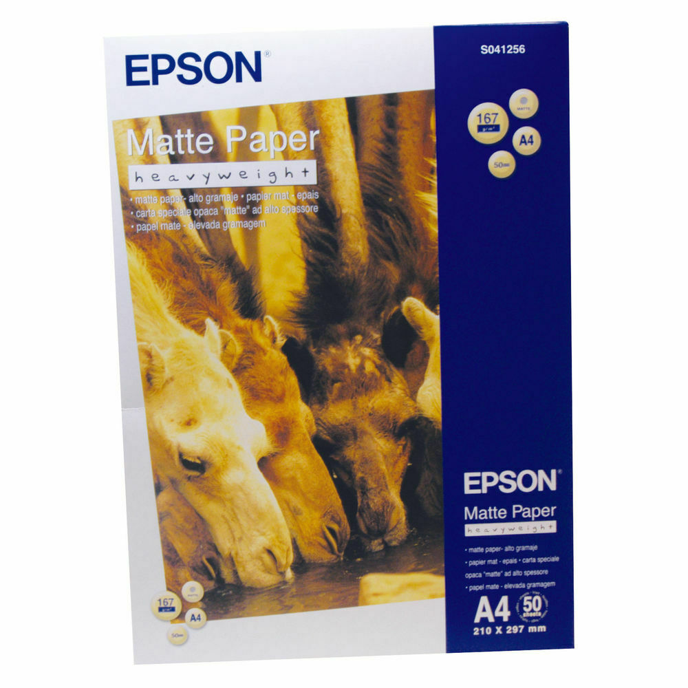 Epson Matte Paper 167gsm A4 White Photo Like Finish- Pack of 50